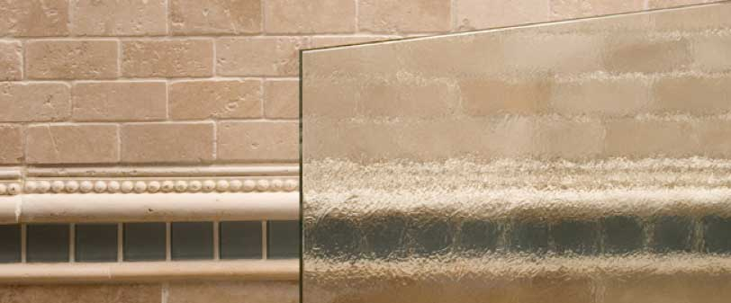 Bubbles Glass Shower Glass